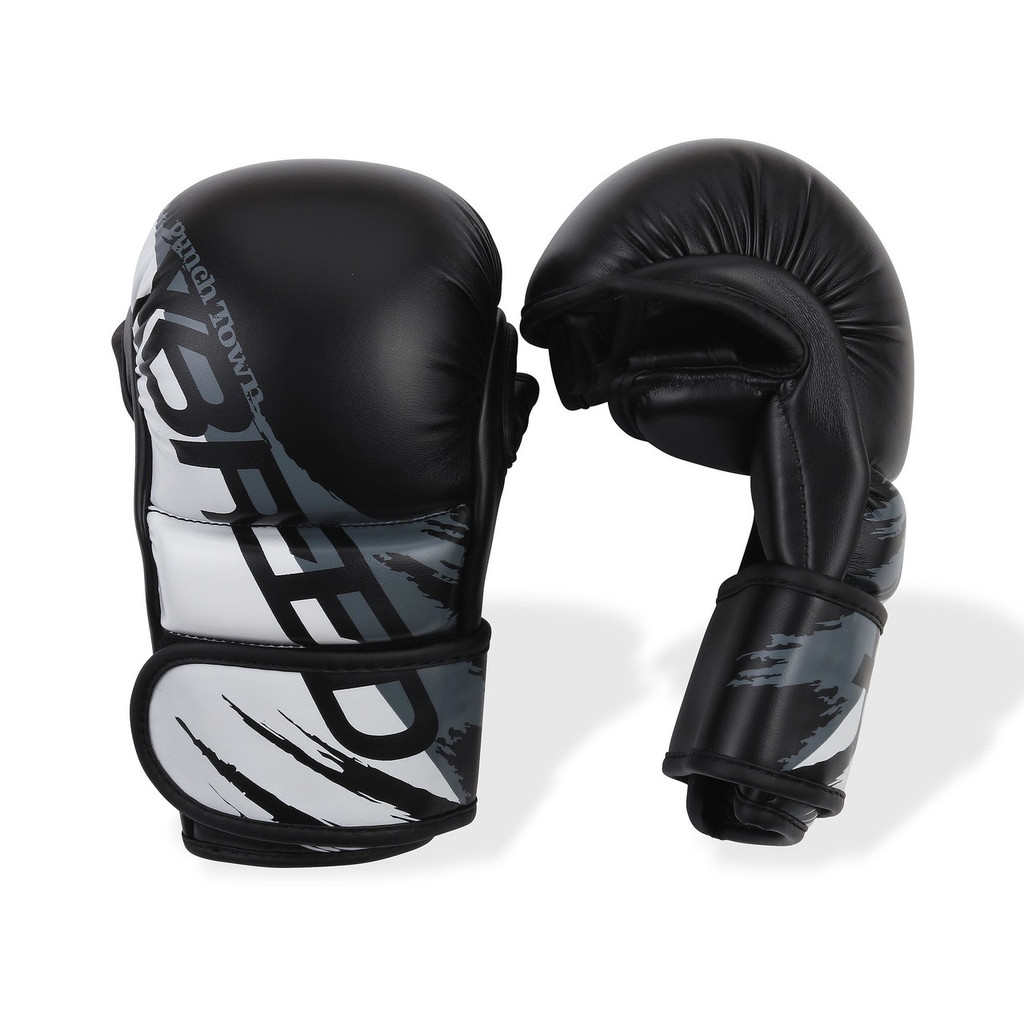 PunchTown xBreed MK3 Hybrid Gloves Black/White