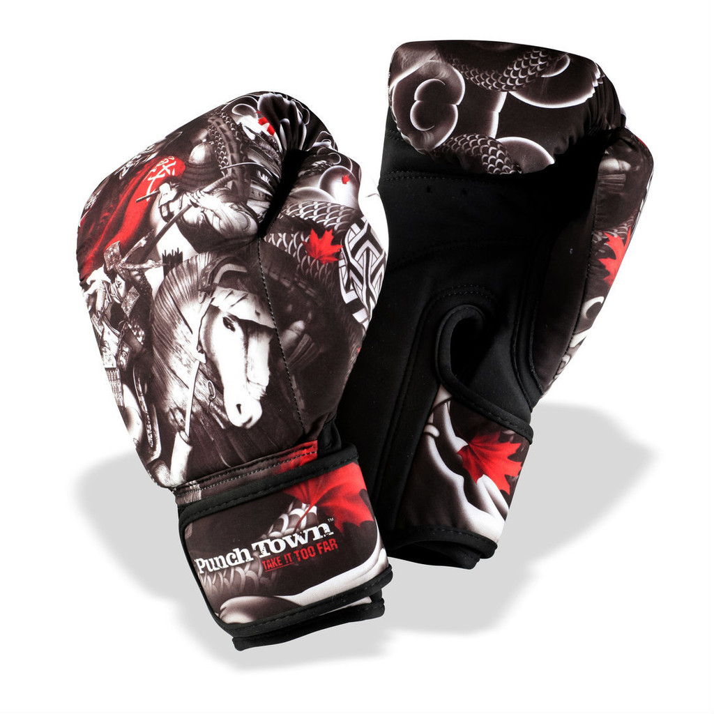 PunchTown Oni Battle Kids Washable Boxing Gloves