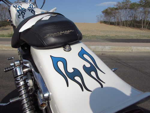 Motorcycle Tribal Flame Decal Kit