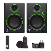 "Mackie CR3 CR Series 3"" Creative Reference Multimedia Monitors (Pair) 2 Year Warranty + PowerBank, USB Car Charger, USB Wall Charger, EZEE Bundle"