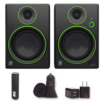 Mackie CR5BT Series Channel Studio Monitor Speaker Bluetooth Pair 2 Year Warranty + PowerBank, USB Car Charger, USB Wall Charger, EZEE Bundle