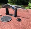 Marfione Custom Super Matrix R Frame Lock Mirror Polish Blade Hand Rubbed Titanium Handle w/ TPT Carboquartz Inlays Blue Ringed Titanium Hardware SN#001