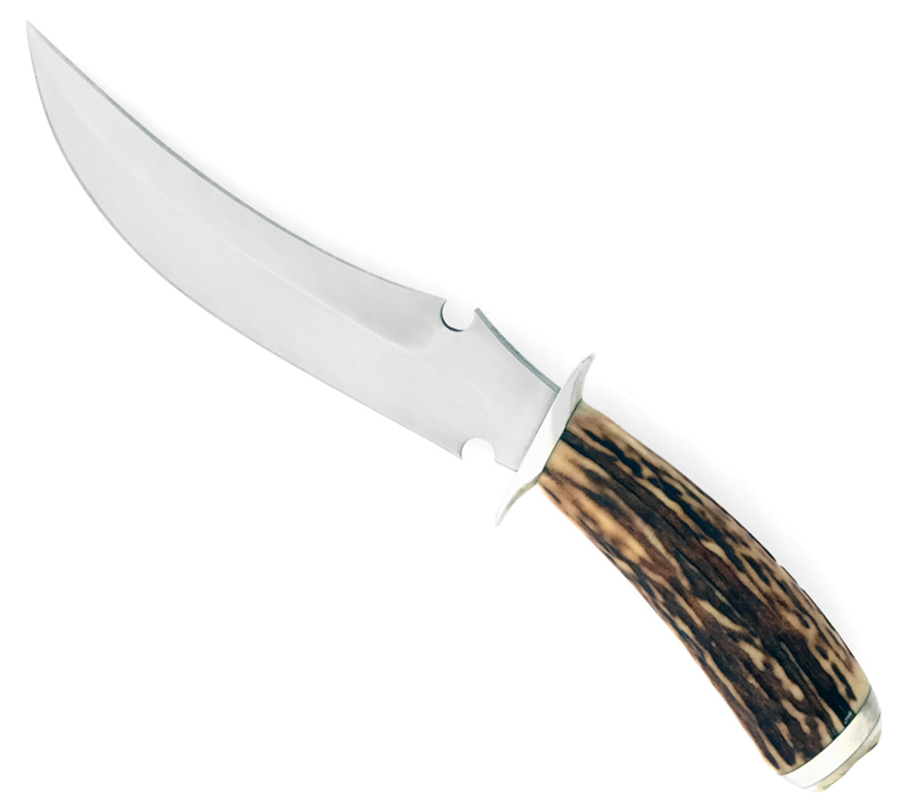 R.B. Johnson Custom Bowie Fighting Knife Genuine Stag