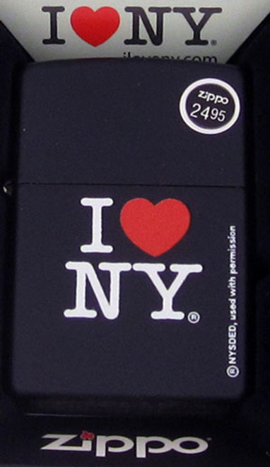 Zippo Lighter Black I Love New York 24798