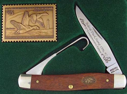 Schrade 1992 93 Federal Duck Stamp Commemorative Folding Hunter