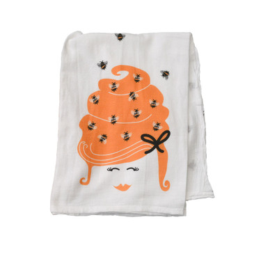 Beehive Mama Kitchen Tea Towel is 100% cotton and ready to work!