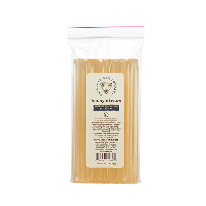 Savannah Bee Company Honey Straws 50 Pack