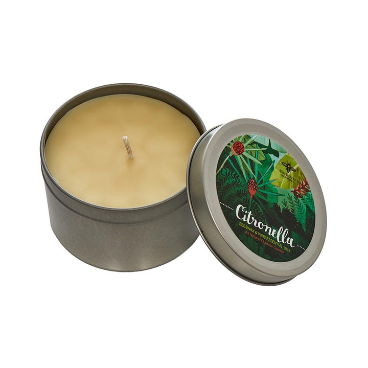 Beeswax Citronella Candle Large Tin