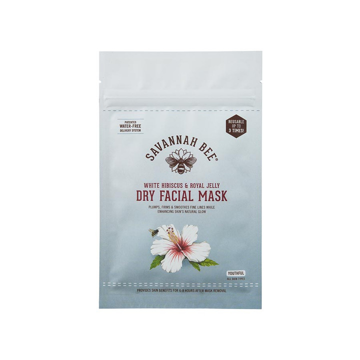 White Hibiscus and Royal Jelly Dry Face Mask