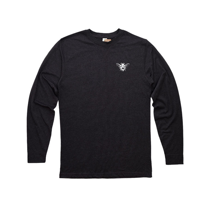 Keep it real with a super-soft long sleeve tee with Savannah Bee logo.
