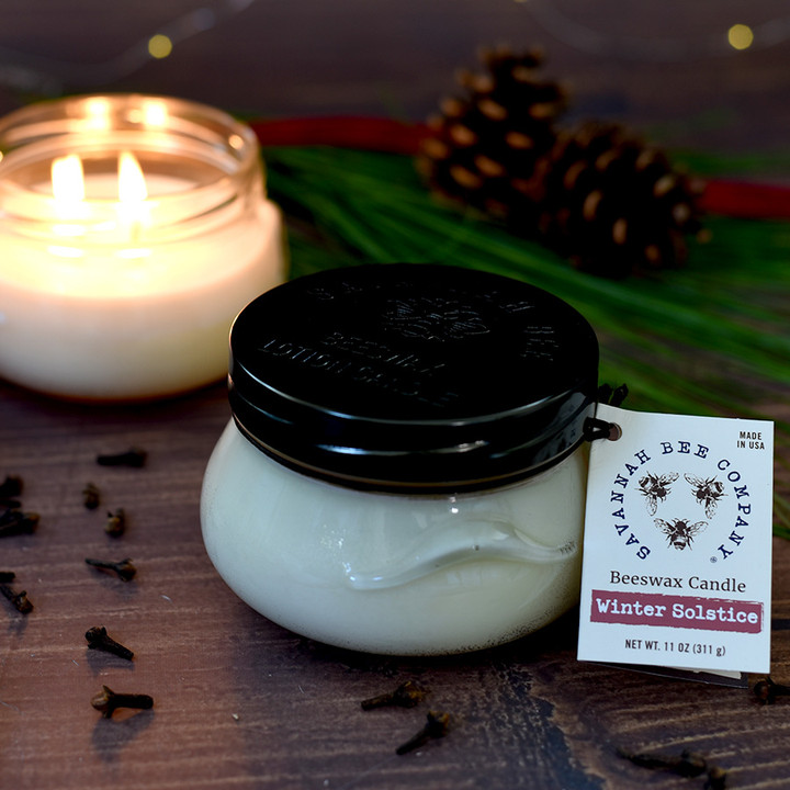 With up to 60 hours of burn time, Winter Solstice Candle is sure to last throughout the season.