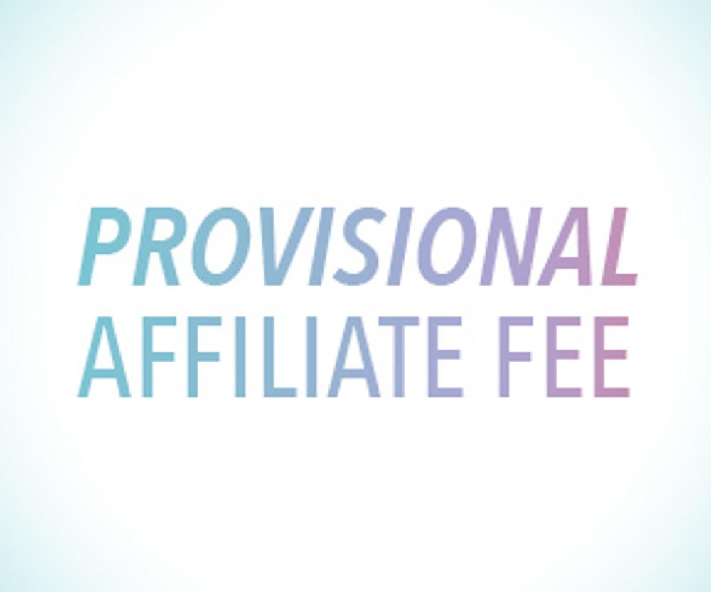 Provisional Affiliation Fee