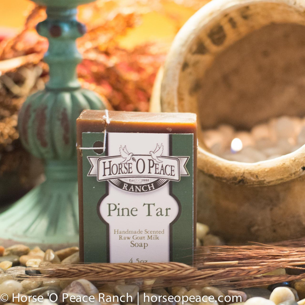 Pine Tar Goat Milk Soap Horse O Peace