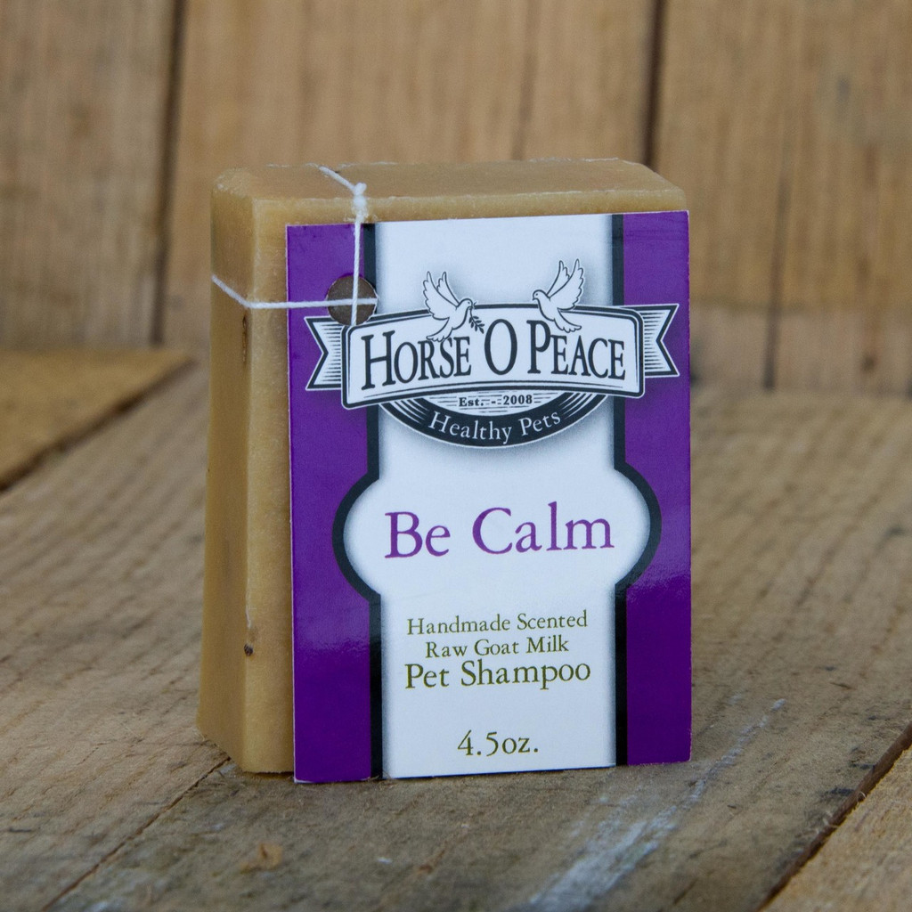 4.5 oz Healthy Pets Be Calm Goat Milk Shampoo Soap | Horse O Peace