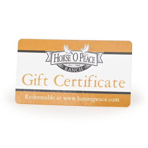 $15 Gift Certificate Front   Horse O Peace Ranch