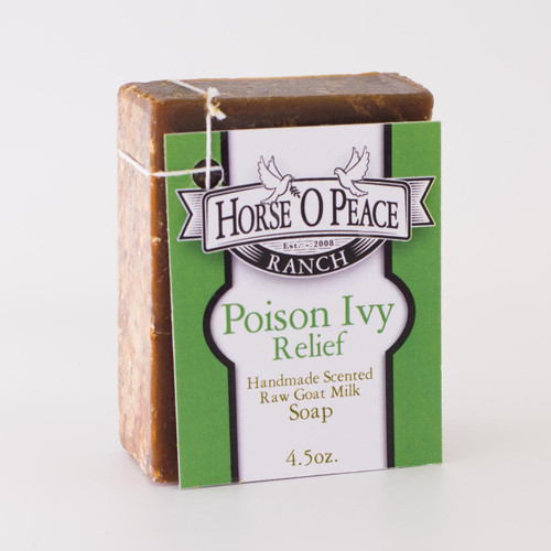 Handmade Goat Milk Soap 100% Raw | Poison Ivy Relief Goat Milk Soap | Horse O Peace