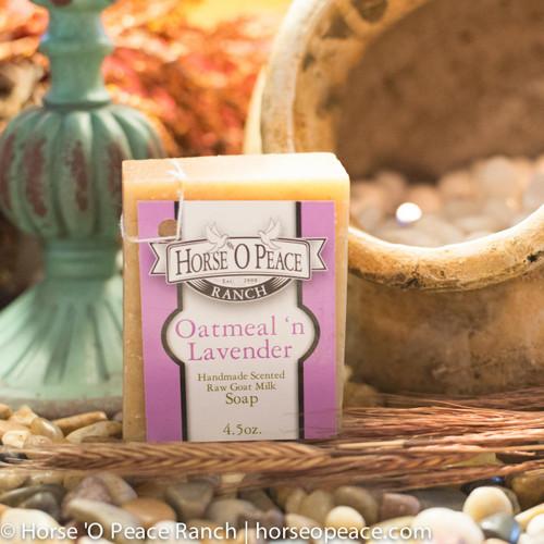 Handmade Goat Milk Soap 100% Raw | Oatmeal and Lavender Goat Milk Soap | Horse O Peace