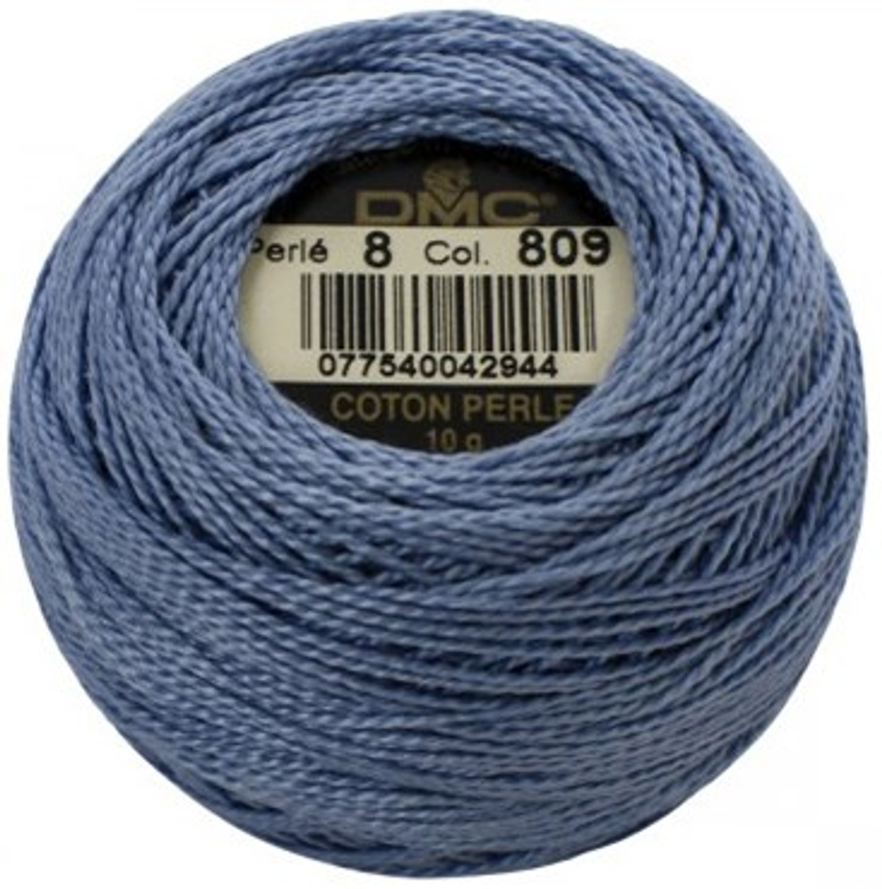 DMC 809  Delft Blue Pearl Cotton Thread Ball - Size 8