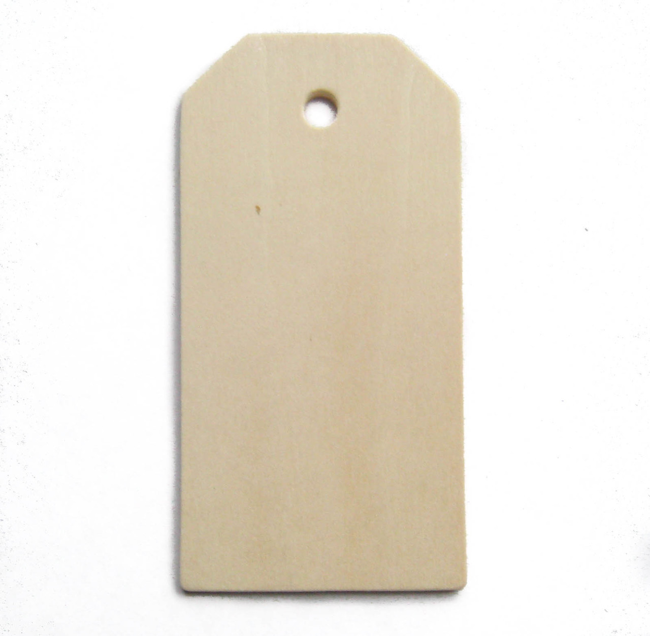 """Large wood tag, unfinished birch made in Usa, 3"""", cutout, craftparts"""