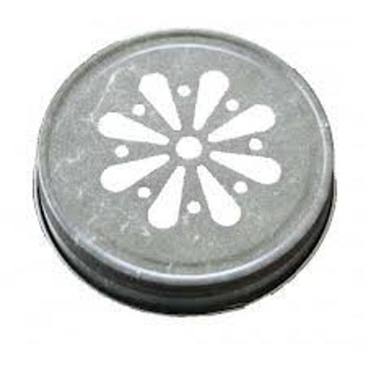 Antique Pewter Silver Color Mason Jar Lids with Daisy shape die cut