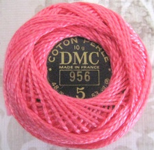 DMC #5 Perle Cotton Thread | 956 Geranium Pink (116 5-956)