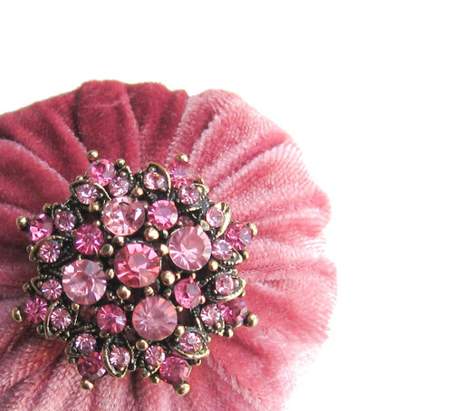 "2"" Mauve Pink Emery Pincushion"