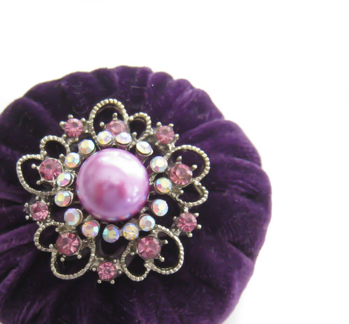 "2"" Purple Emery Pincushion"