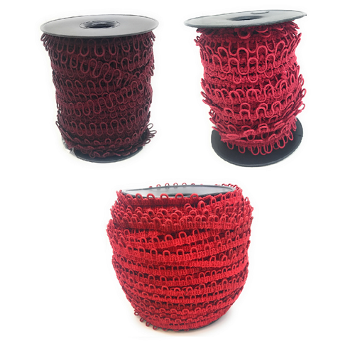 "12"" Red Shades Adjacent Elastic Bridal Button Loops"