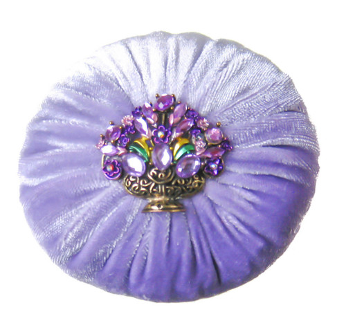"4"" Lilac Emery Pincushion"