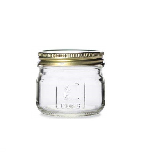 4 oz Square Mason Glass Jars with Measurement