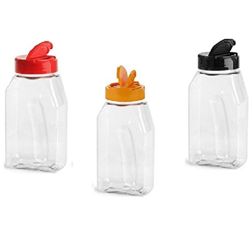 16 oz Plastic Spice Jar with color choice of lid and Freshness Seals