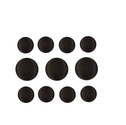 Nakpunar Black Satin Tuxedo Buttons Set - 8 Sleeve, 3 Suit Fronts