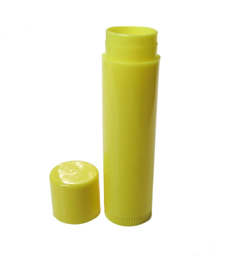 Yellow 0.15 oz empty lip balm tubes