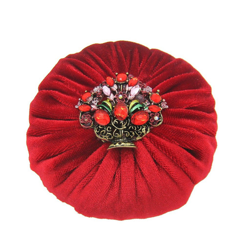 "4"" Red Emery Pincushion / Pin Cushion - Fille with 1 lb abrasive powder"