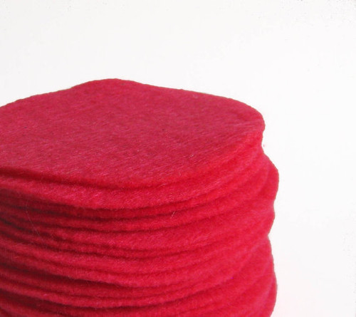 Magenta Pink Felt Circles (To see price please choose the diameter)