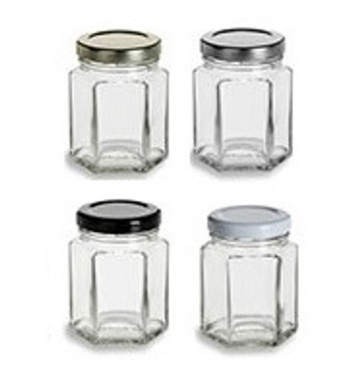Nakpunar 3.75 oz Hexagon Jars with Lid