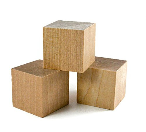 "1.5"" Wooden Cubes (16 pcs) - Wooden Blocks"