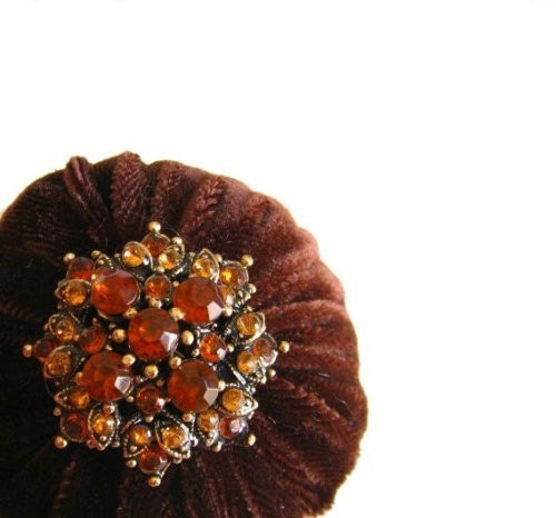 "2"" Brown Velvet Emery Pincushion"