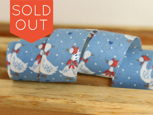 3 yards Blue Offray Ribbon with Ducks