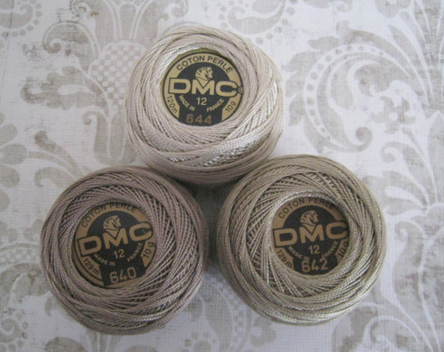 DMC 644 Medium Beige Gray Size 12 Perle Cotton Ball Embroidery Thread