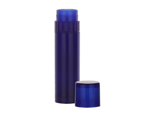 0.15 oz Royal Blue Lip Balm Tube with Cap