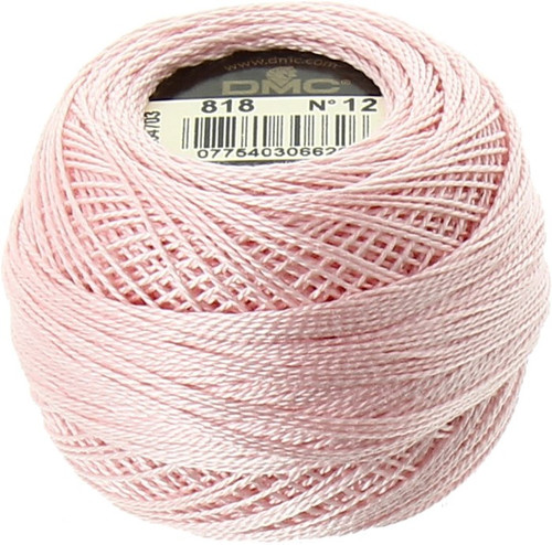 DMC  Perle Cotton Thread Ball | Size 12 | 818 Baby Pink