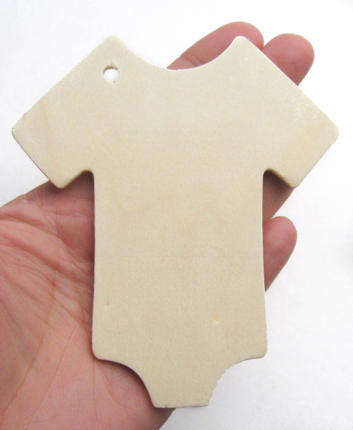 Unfinished Wooden Baby Onesie Gift Tag