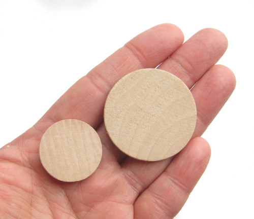 Wooden Circle Cutout Shapes