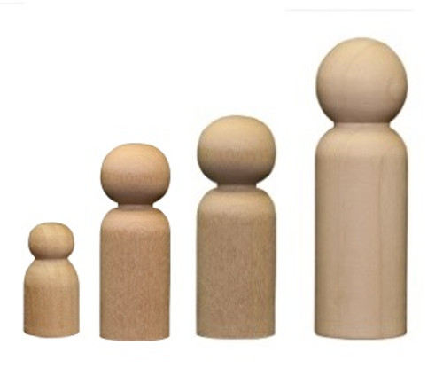 Wooden Male Peg Doll Bodies