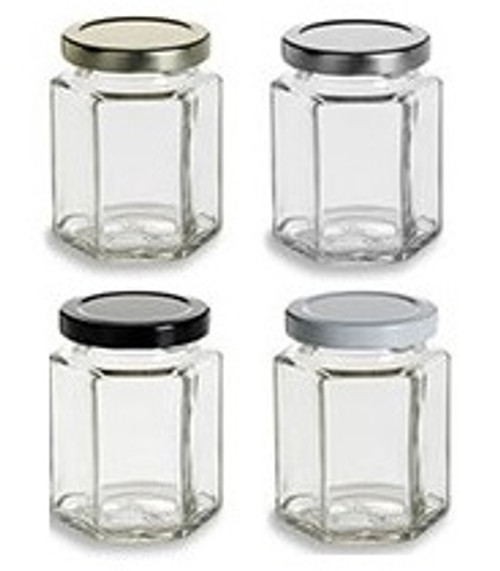 Nakpunar 6 oz Hexagon Jars with Lids