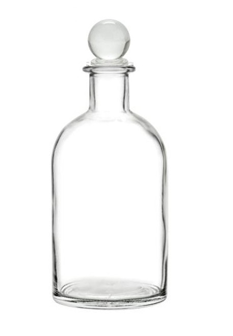 Nakpunar Boston Glass Bottle with Glass Bottle Stopper