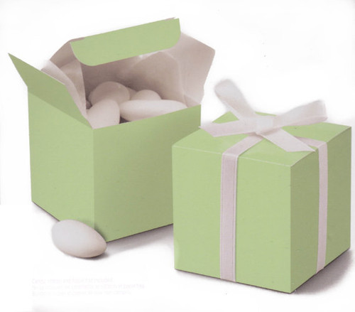 "Nakpunar Mint Green Favor Boxes  2""x2""x2"""