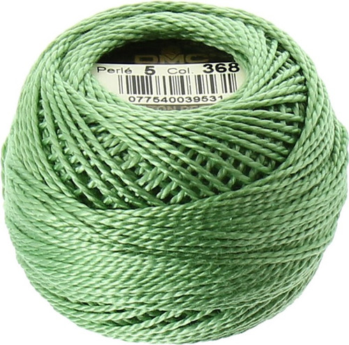 DMC #5 Perle Cotton Thread | 368 Light Pistachio Green