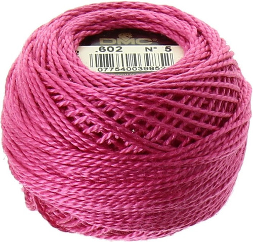 DMC #5 Perle Cotton Thread | 602 Md Cranberry Pink (116 5-602)